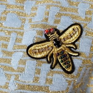 H&M Tops - H&M Gold Bee Patch Top